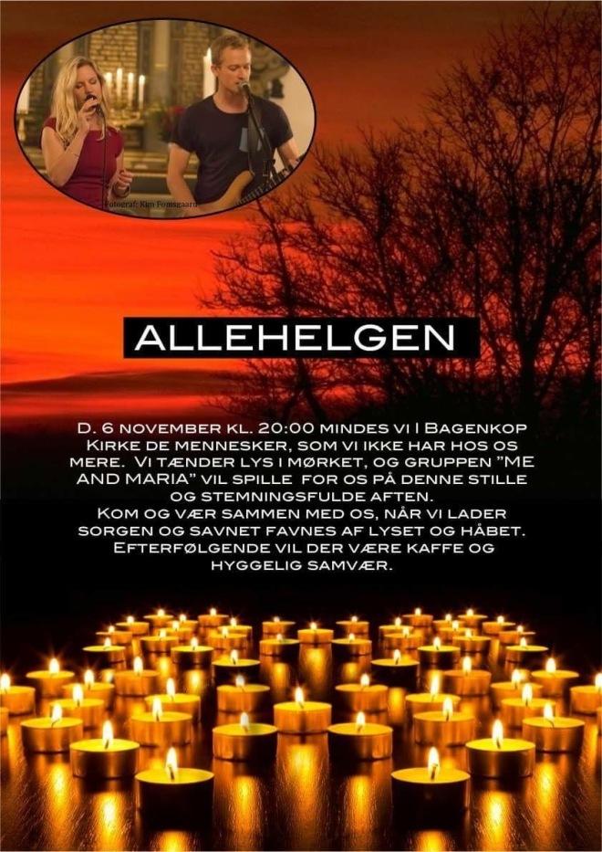 Allehelgen på Langeland med Me and Maria koncert