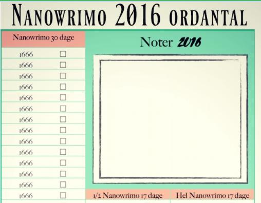 Jeg skriver/min skriveuge #45 NAnowrimo