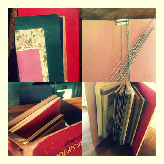 notesbøger samlet et sted