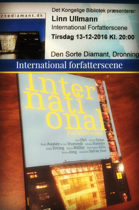 International forfatterscene Linn Ullmann 2016 Heldigvis har jeg også nogle af de forrige interviews på DVD