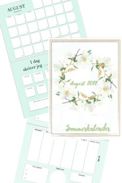 Kalender for august - skriv dag for dag