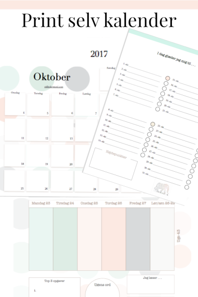 Print selv kalender