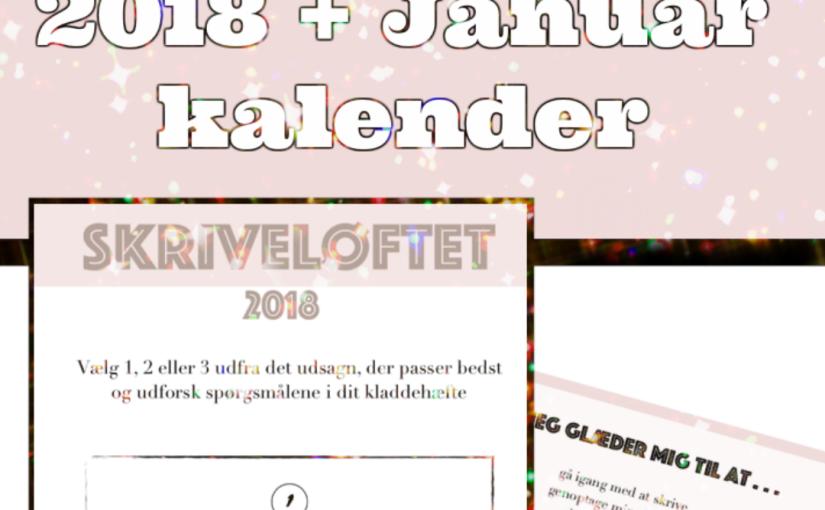Tag skriveløftet for 2018 + januarkalender